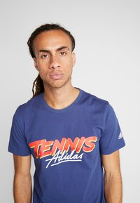 adidas Performance - SCRIPT GRAPH  - T-Shirt print - tech indigo - 4