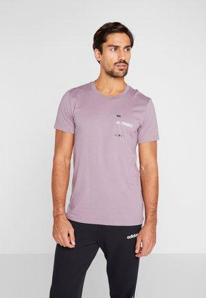TERREX GRAPHIC  - T-Shirt print - purple