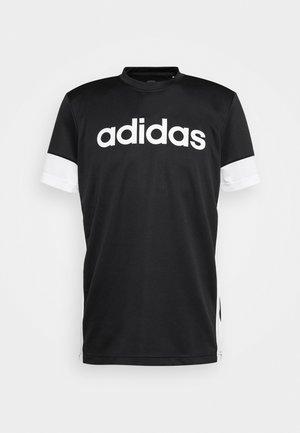 TEE - T-shirt med print - black/white