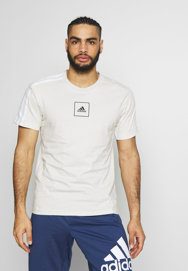 TAPE TEE - Camiseta estampada - beige