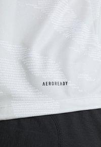 adidas Performance - CAMO TEE - Print T-shirt - white - 5
