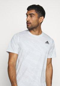adidas Performance - CAMO TEE - Print T-shirt - white - 3