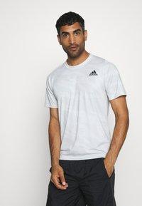 adidas Performance - CAMO TEE - Print T-shirt - white - 0