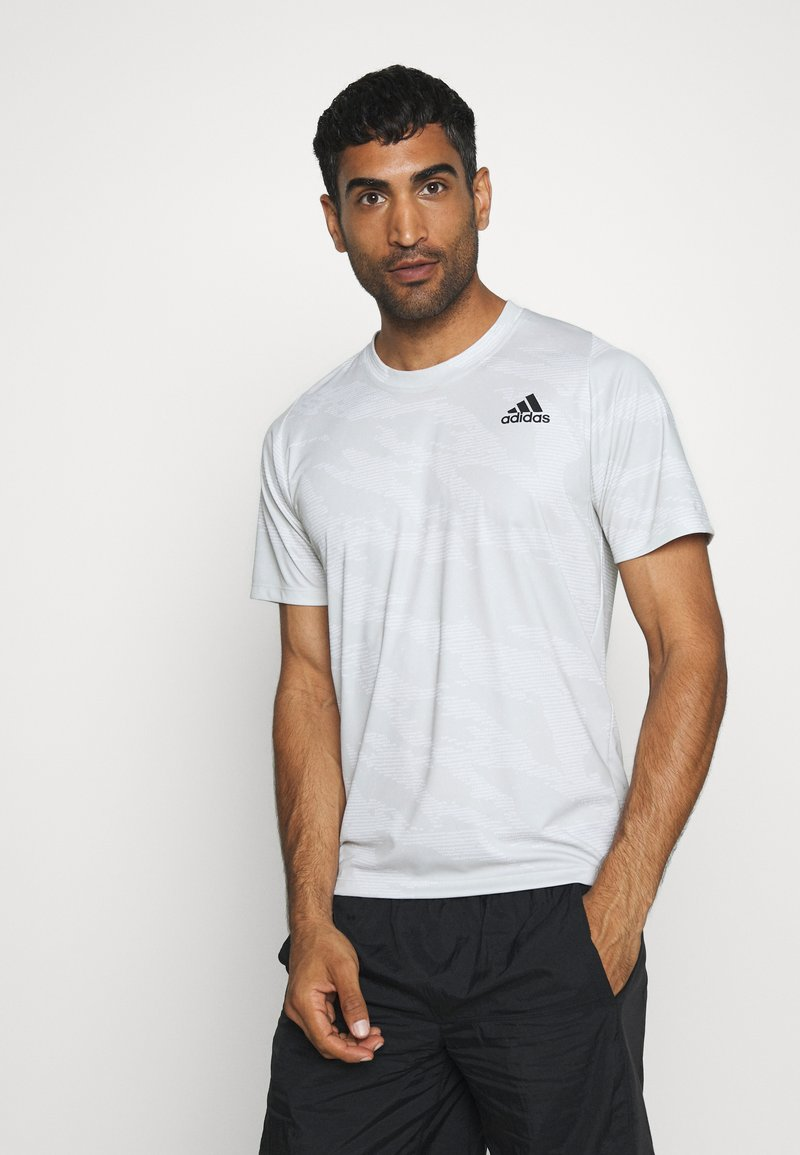 adidas Performance - CAMO TEE - T-shirts med print - white