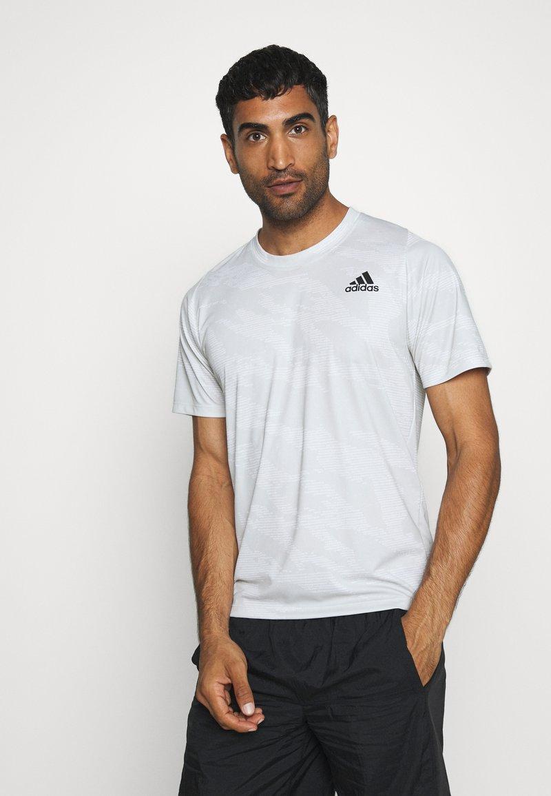 adidas Performance - CAMO TEE - Print T-shirt - white