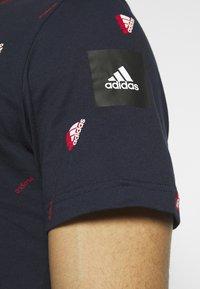 adidas Performance - TEE  - T-shirts med print - dark blue - 4