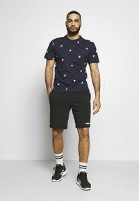 adidas Performance - TEE  - T-shirts med print - dark blue - 1