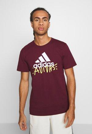 DOODLEBASIC - T-shirt z nadrukiem - maroon