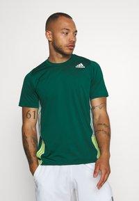 adidas Performance - TEE - T-shirt print - green - 0