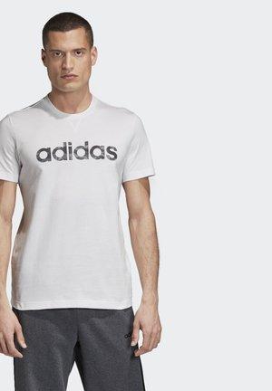 CAMO LINEAR T-SHIRT - T-shirt z nadrukiem - white