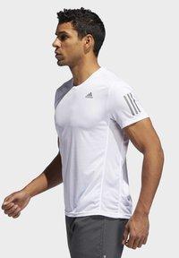 adidas Performance - OWN THE RUN T-SHIRT - Print T-shirt - white - 2