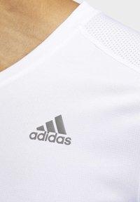 adidas Performance - OWN THE RUN T-SHIRT - Print T-shirt - white - 5