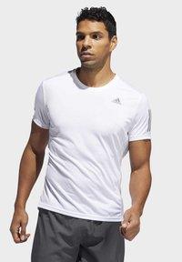 adidas Performance - OWN THE RUN T-SHIRT - Print T-shirt - white - 0