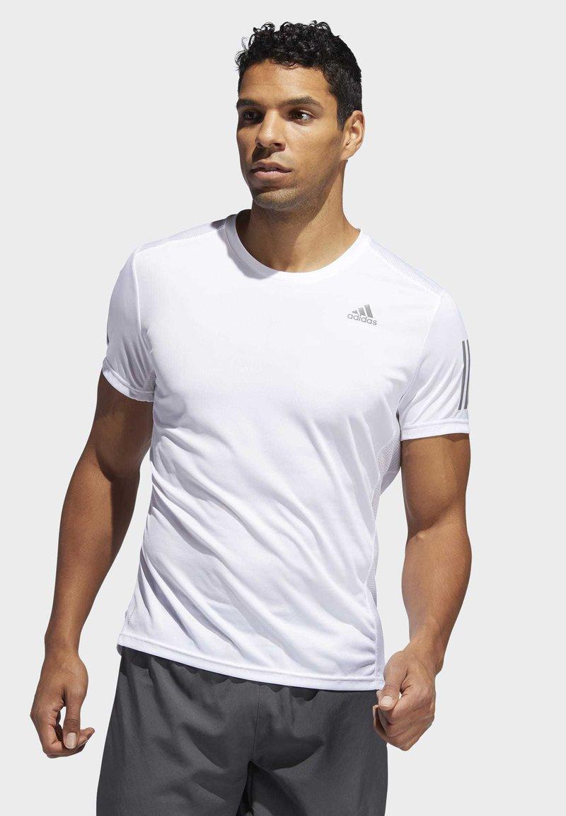 adidas Performance - OWN THE RUN T-SHIRT - Print T-shirt - white