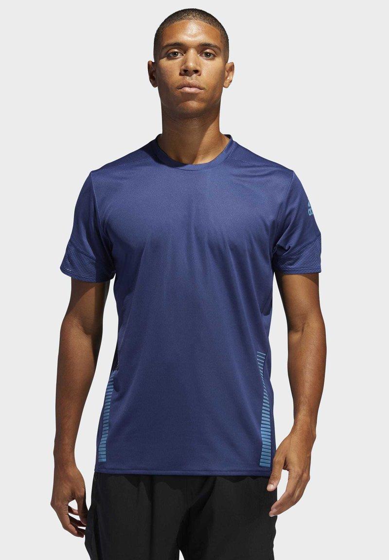 adidas Performance - RISE UP N RUN PARLEY T-SHIRT - T-shirt print - tech indigo