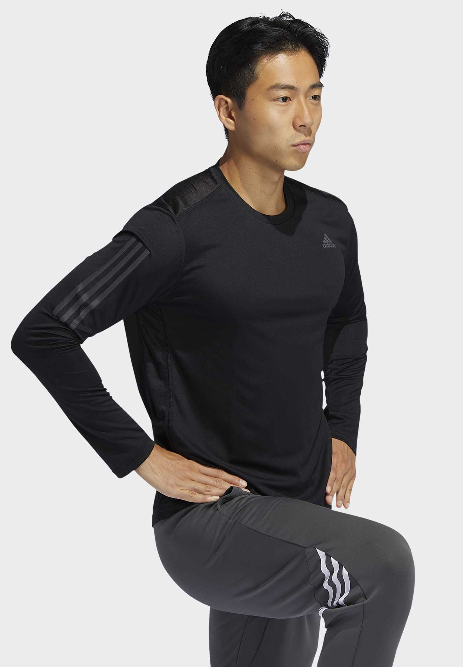 adidas Performance OWN THE RUN LONG-SLEEVE TOP - Koszulka sportowa - black