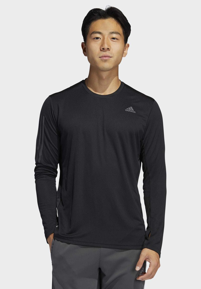 adidas Performance - OWN THE RUN LONG-SLEEVE TOP - Funktionstrøjer - black