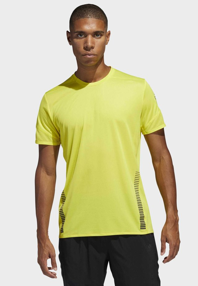RISE UP N RUN PARLEY T-SHIRT - T-shirt con stampa - yellow