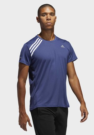 RUN IT 3-STRIPES T-SHIRT - T-shirt imprimé - tech indigo