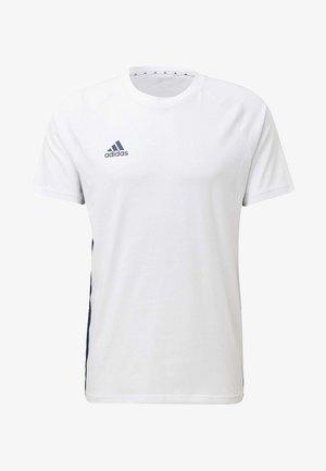 TAN TAPE T-SHIRT - T-shirt med print - white