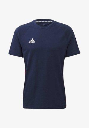TAN TAPE T-SHIRT - T-shirt med print - blue