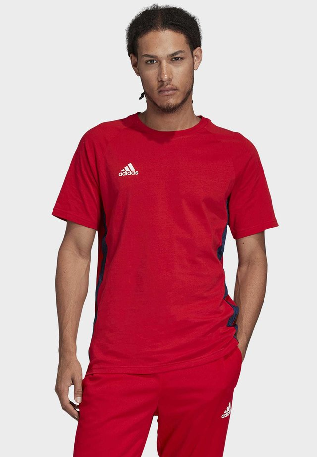 TAN TAPE T-SHIRT - T-shirt con stampa - red