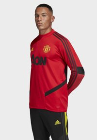 adidas Performance - MANCHESTER UNITED TRAINING TOP - Klubbklær - red - 3
