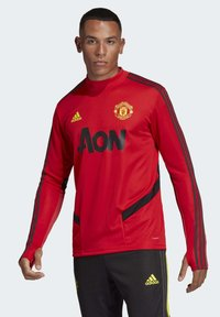 adidas Performance - MANCHESTER UNITED TRAINING TOP - Klubbklær - red - 0