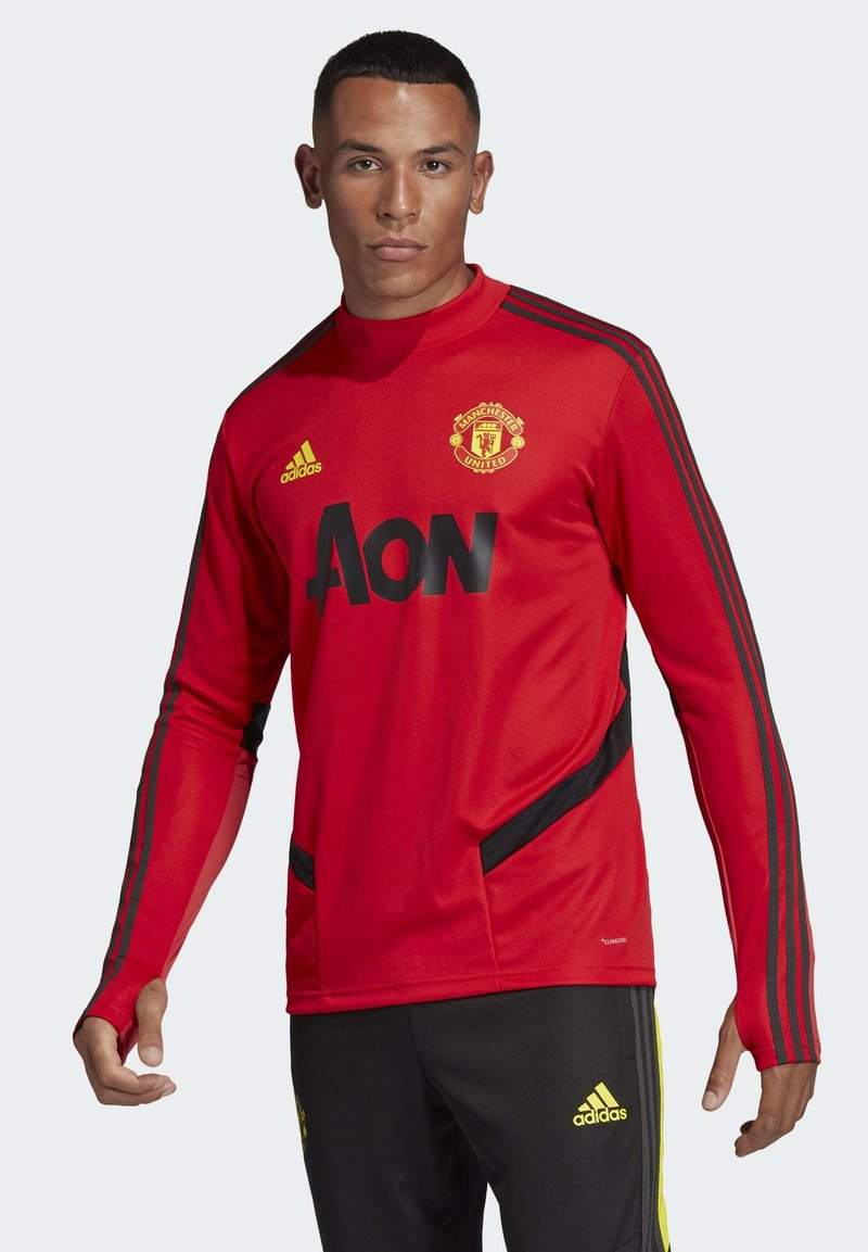 adidas Performance - MANCHESTER UNITED TRAINING TOP - Klubbklær - red