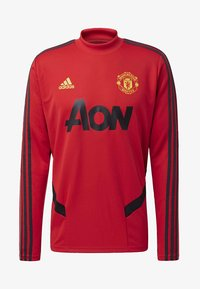 adidas Performance - MANCHESTER UNITED TRAINING TOP - Klubbklær - red - 8