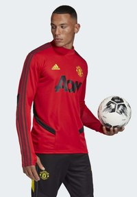 adidas Performance - MANCHESTER UNITED TRAINING TOP - Klubbklær - red - 4