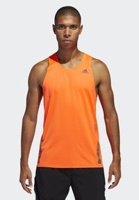 adidas Performance - RISE UP N RUN SINGLET - Linne - orange - 0
