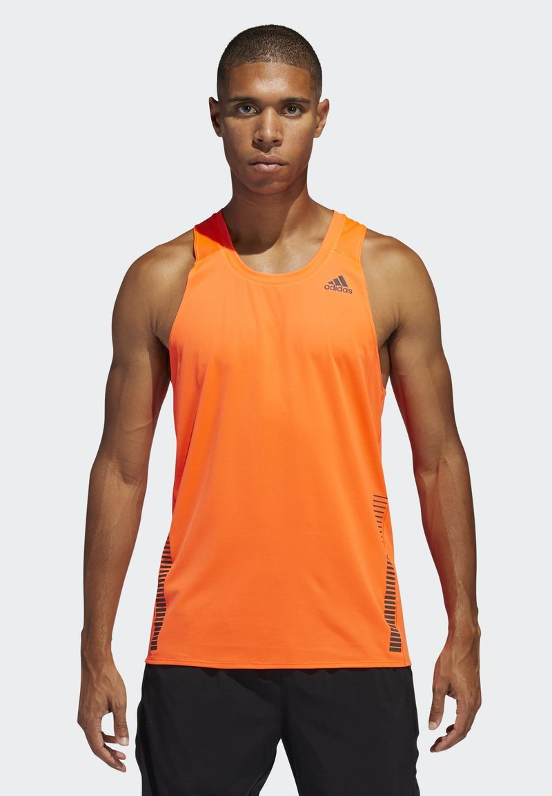 adidas Performance - RISE UP N RUN SINGLET - Linne - orange