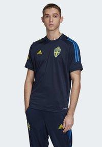 adidas Performance - SWEDEN SVFF TRAINING SHIRT - T-Shirt print - blue - 0
