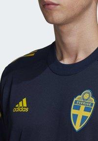 adidas Performance - SWEDEN SVFF TRAINING SHIRT - T-Shirt print - blue - 2