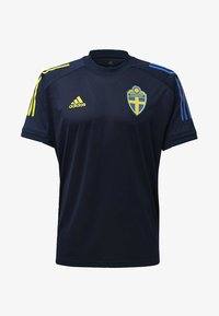 adidas Performance - SWEDEN SVFF TRAINING SHIRT - T-Shirt print - blue - 5