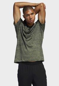 adidas Performance - TECH GRADIENT T-SHIRT - T-shirts med print - legacy green - 3
