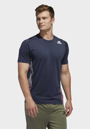FREELIFT 3-STRIPES T-SHIRT - T-shirt z nadrukiem - blue