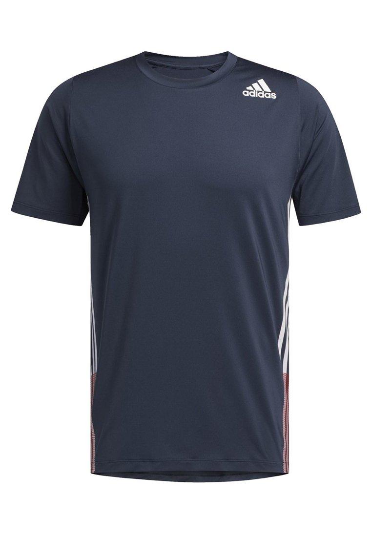 Adidas Performance Freelift 3-stripes T-shirt - Con Stampa Blue tRvVokO