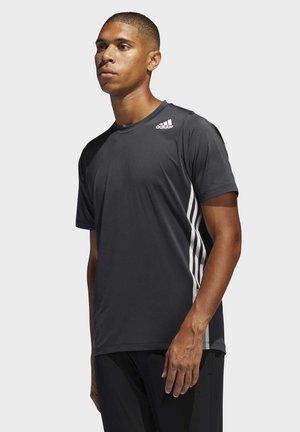 FREELIFT 3-STRIPES T-SHIRT - T-shirt z nadrukiem - black