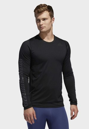 ALPHASKIN GRAPHIC LONG-SLEEVE TOP - Long sleeved top - black