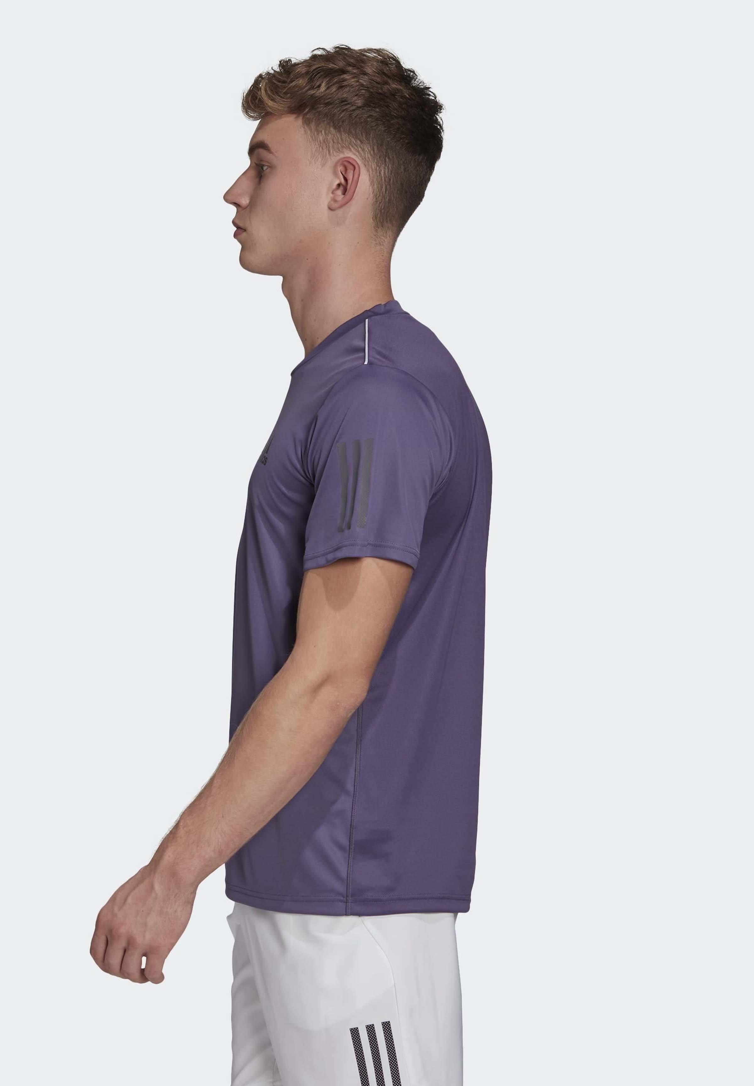 Adidas Performance Stripes Club T-shirt - Con Stampa Purple/grey DB74R