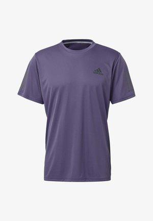 STRIPES CLUB T-SHIRT - Print T-shirt - purple/grey
