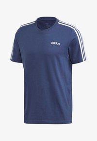 adidas Performance - ESSENTIALS 3-STRIPES T-SHIRT - Print T-shirt - tech indigo - 7