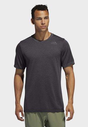 PRIMEKNIT 3-STRIPES T-SHIRT - Print T-shirt - black