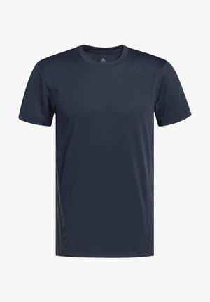 AEROREADY 3-STRIPES T-SHIRT - T-shirt print - blue