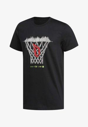 DAME LOGO T-SHIRT - T-shirt z nadrukiem - black