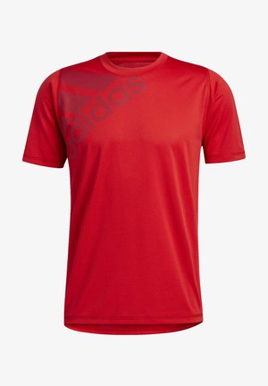 FREELIFT BADGE OF SPORT GRAPHIC TEE - Printtipaita - red