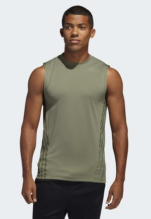AEROREADY 3-STRIPES TANK TOP - Funktionströja - green