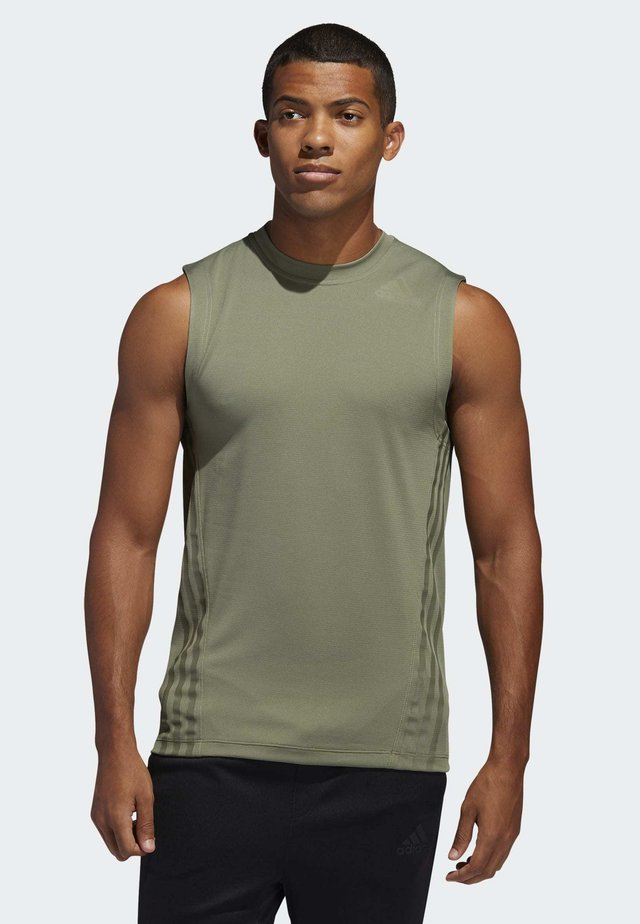 AEROREADY 3-STRIPES TANK TOP - Sportshirt - green